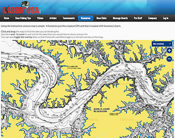 interactive contour map