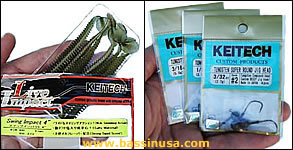 Keitech Swing Impact and Jigs