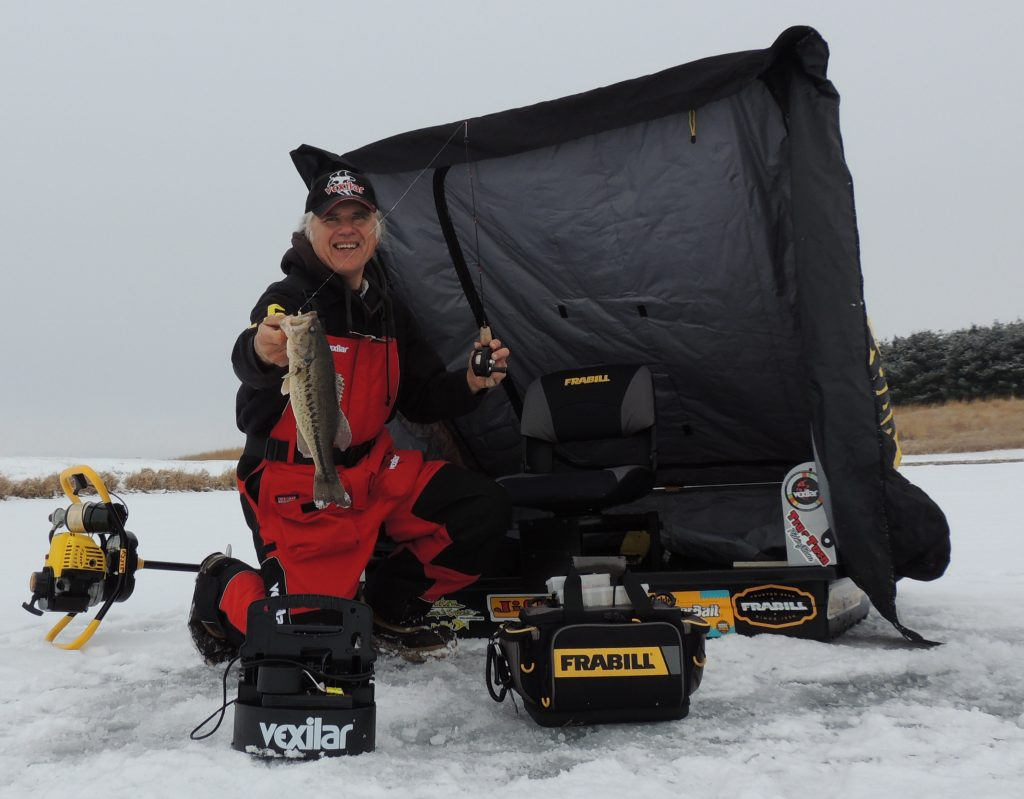 Line watching with Frabill Straight-Line combos is a great way to stay in practice for fishing soft plastics and jigs for bass.