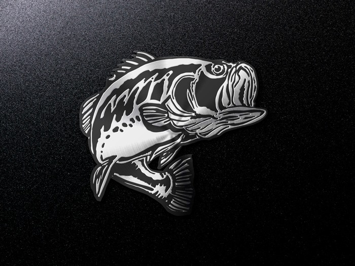 Chrome Largemouth Decal