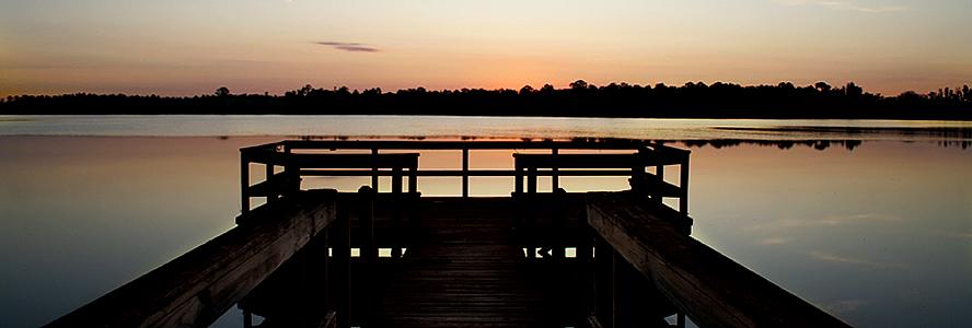 night fishing dock full